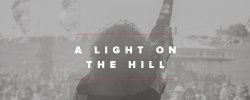 A light on a hill