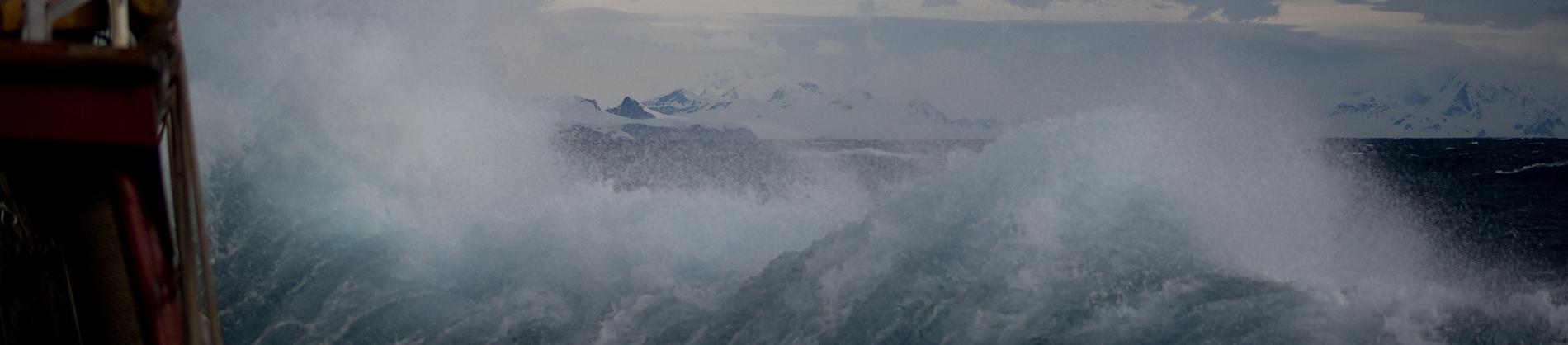 Waves crashing during storm