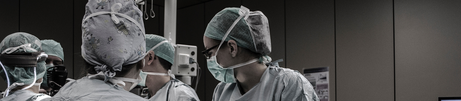 Surgeons in the operating theatre