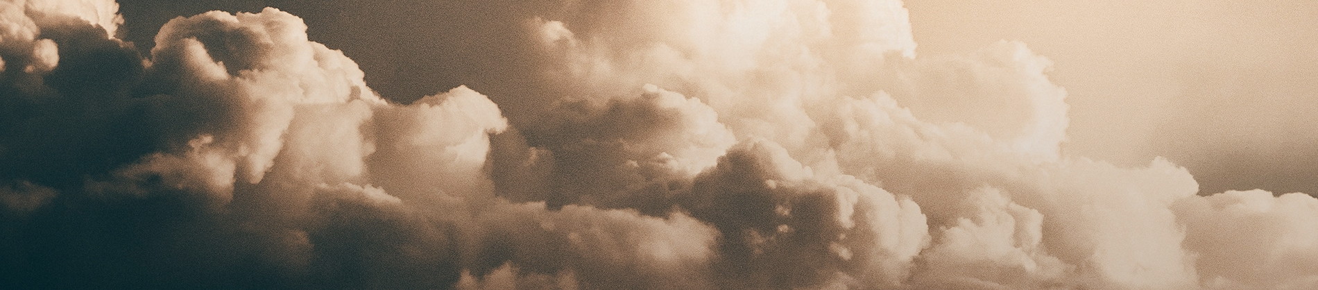 Sepia filtered clouds