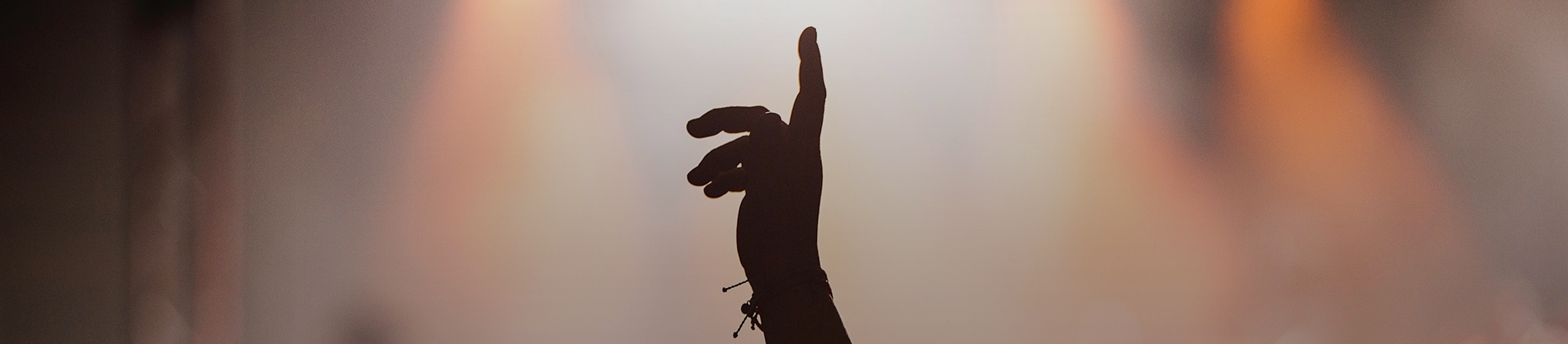 A women pointing in the air