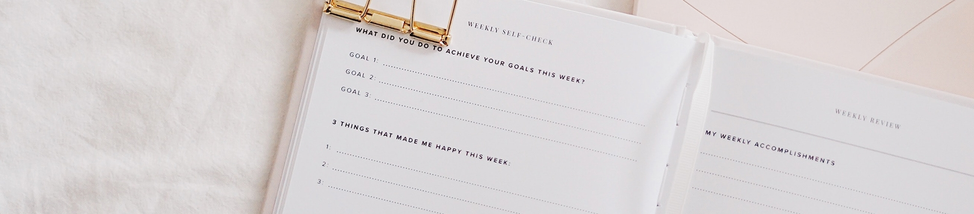 An open planner with goals listed