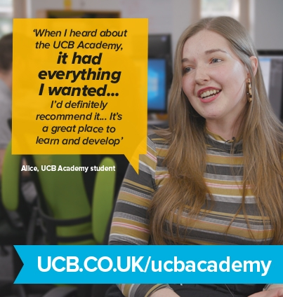 When I heard about the UCB Academy It had everything I wanted. Alice UCB Academy Student