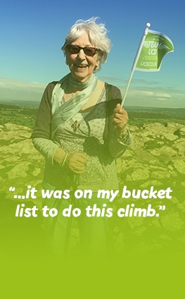 """…it was on my bucket list to do this climb."" Val"