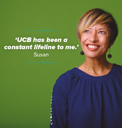 UCB has been a constant lifeline to me - Susan