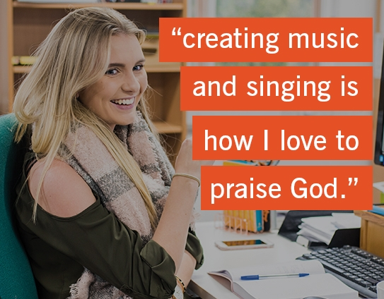 """creating music and singing is  how I love to praise God."""