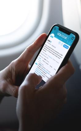 Man using UCB twitter account