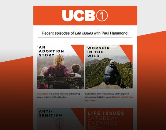 UCB 1 Newsletter email