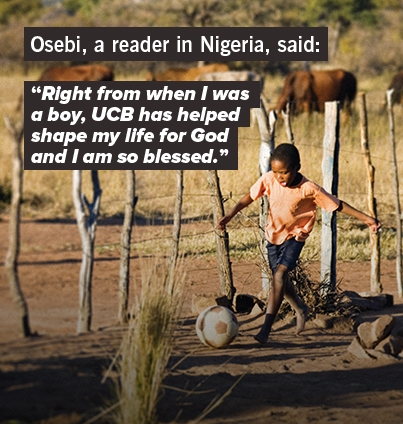 Osebi, a reader in Nigeria