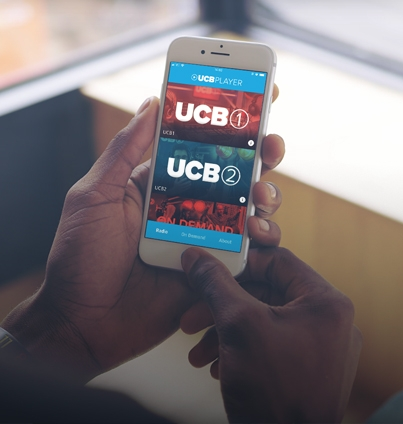 Man using the UCB Player app