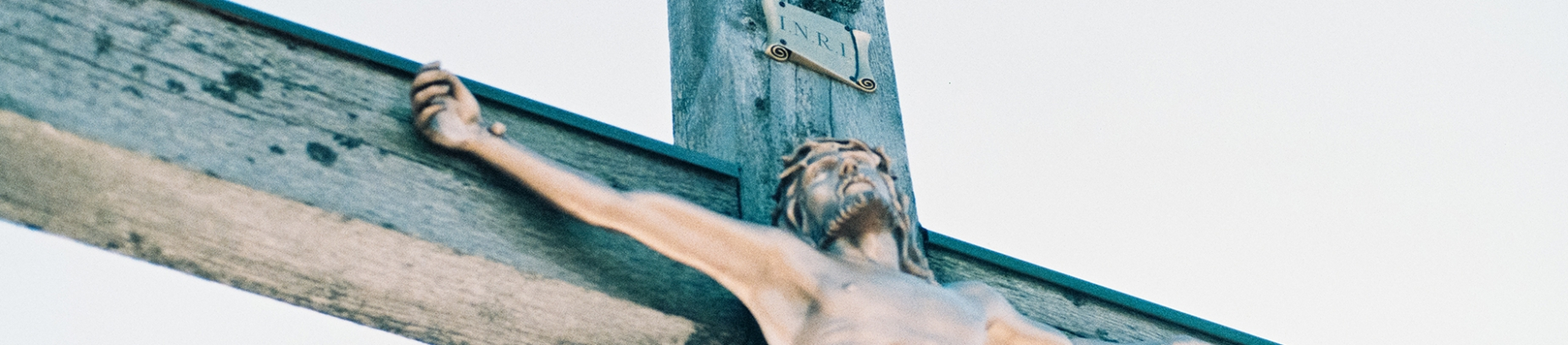 Statue of Jesus nailed to the cross