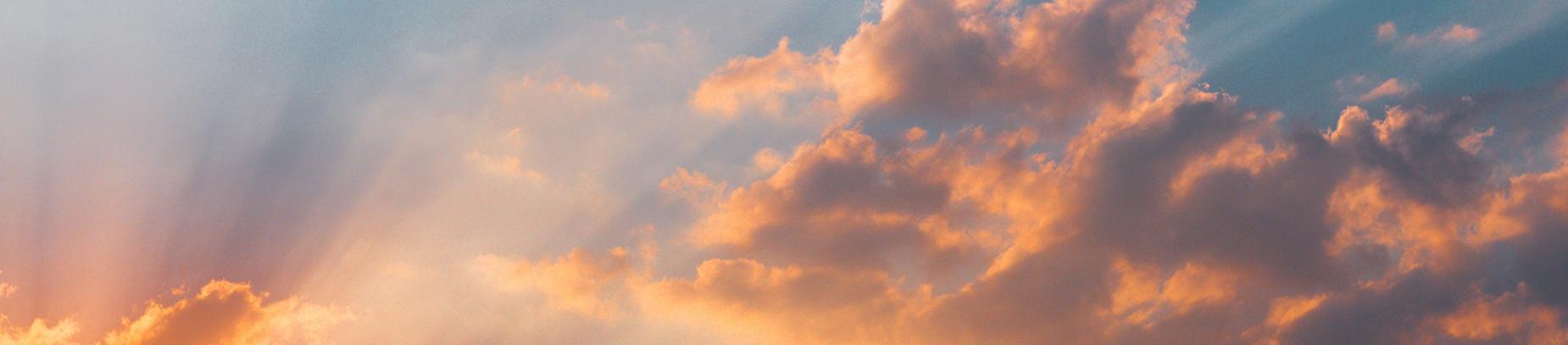 The sky at sun set