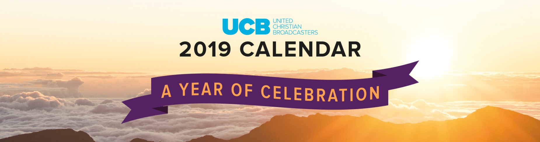 2019 Calendar - A year of Celebration