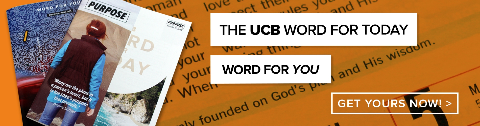 Sign up for The UCB Word For Today or Word For You here!
