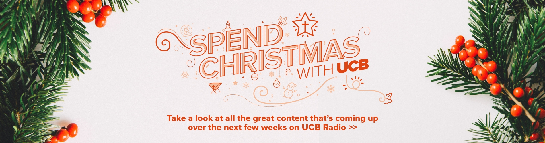 Take a look at all the great content that's coming up  over the next few weeks on UCB Radio >>