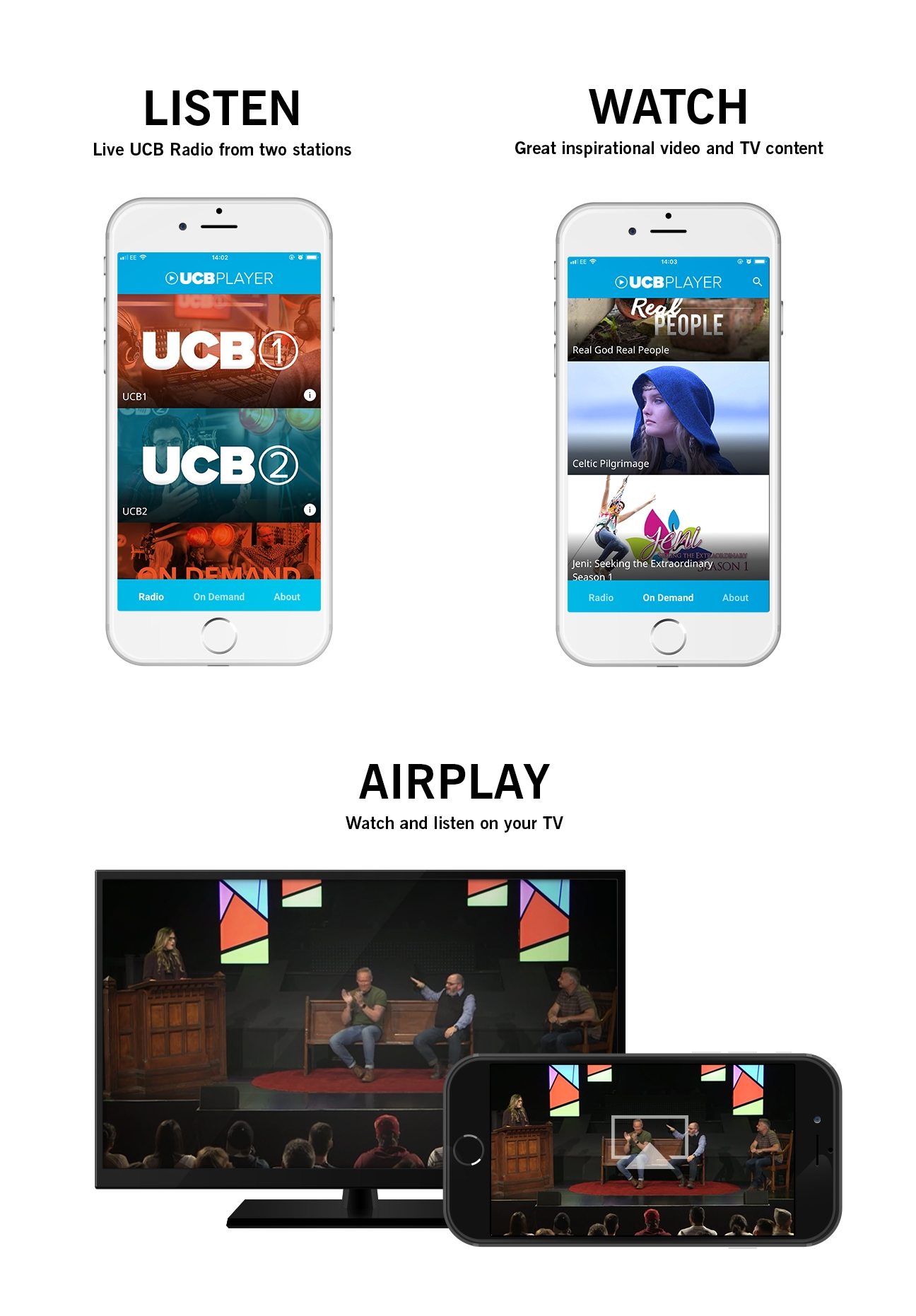 UCB Player app updates